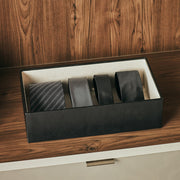 4 Inch Park Stackable Tray in Black Finish in Closet System