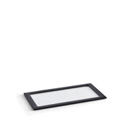 Park Stackable Glass Tray Lid in Black Finish