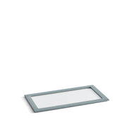 Park Stackable Glass Tray Lid in Ice Blue Finish