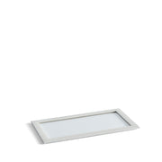 Park Stackable Glass Tray Lid in White Finish