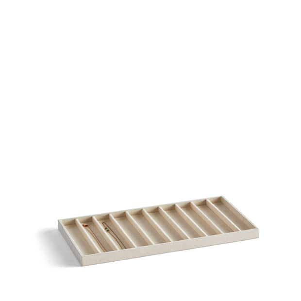 Park Stackable Necklace Tray Insert in Ivory Finish by California Closets Essentials