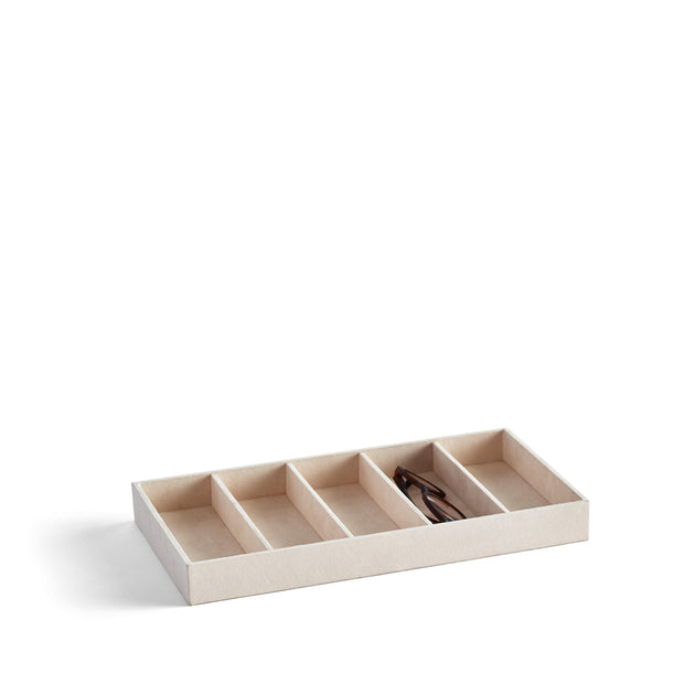 Park Stackable Eyewear Tray Insert in Ivory Finish by California Closets Essentials