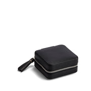 Park Zip Jewelry Case in Black Finish Closed Top