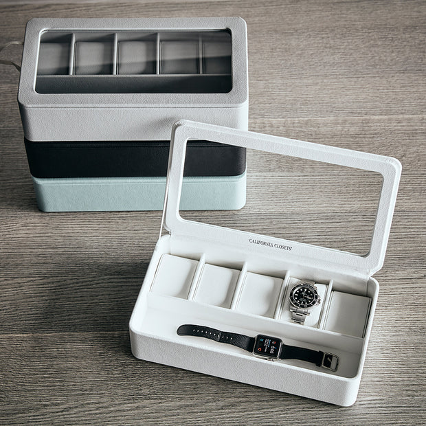 Presidio Smart Apple Watch Storage Box in White Finish in Closet System
