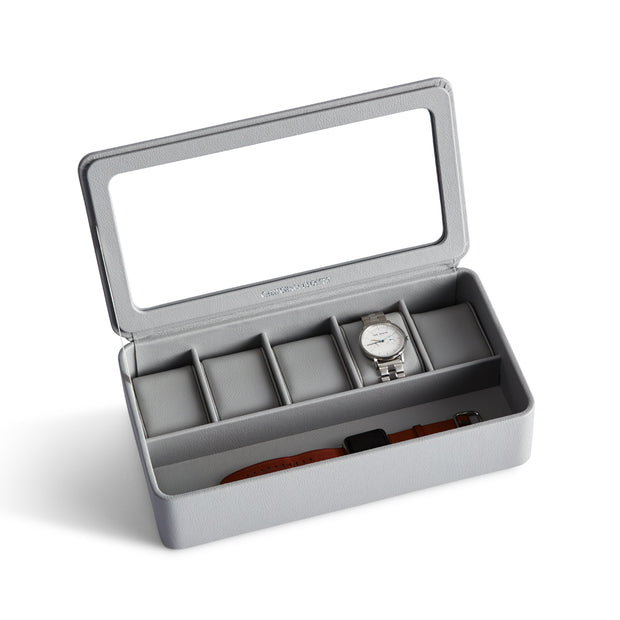 Presidio Smart Apple Watch Storage Box in Dove Grey Finish