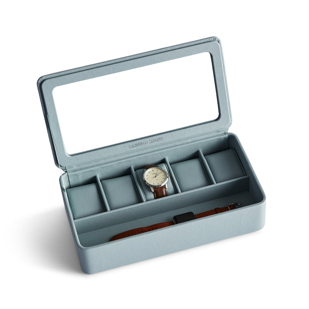 Presidio Smart Apple Watch Storage Box in Ice Blue Finish by California Closets Essentials