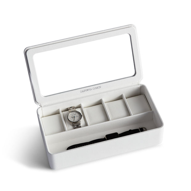 Presidio Smart Apple Watch Storage Box in White Finish