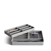 Presidio Smart Apple Watch Nesting Storage Trays in Dove Grey Finish