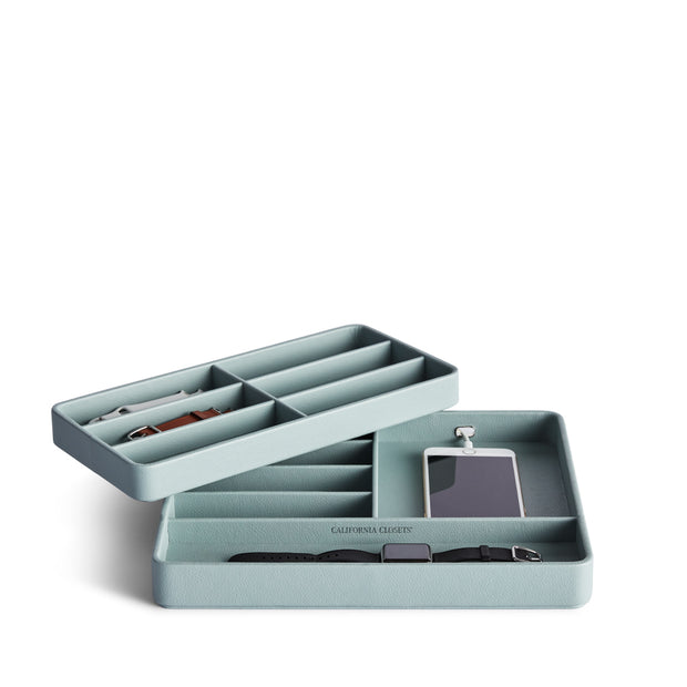 Presidio Smart Apple Watch Nesting Storage Trays in Ice Blue Finish