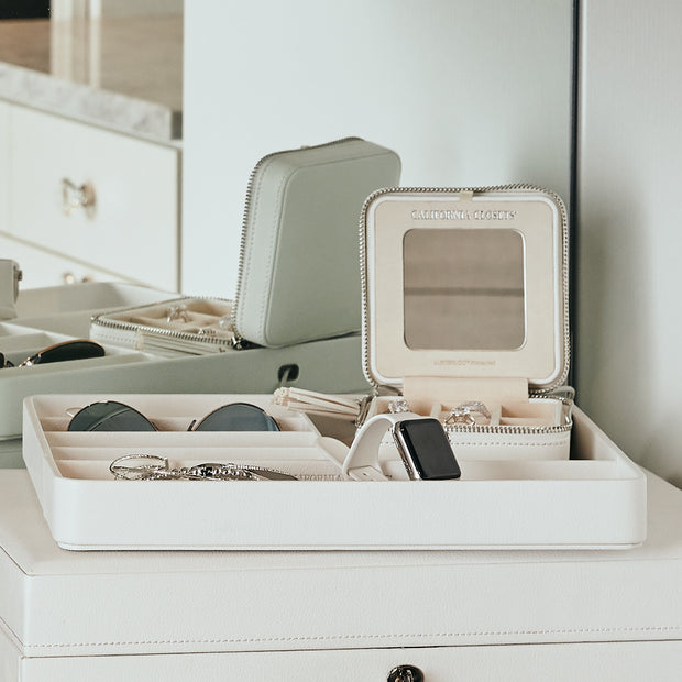 Presidio Smart Apple Watch Nesting Storage Trays in White Finish in Closet System