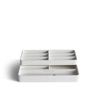 Presidio Smart Apple Watch Nesting Storage Trays in White Finish by California Closets Essentials