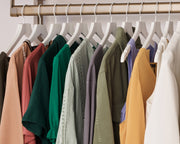 Example of Everyday Shirt Hangers in White with shirts | California Closets