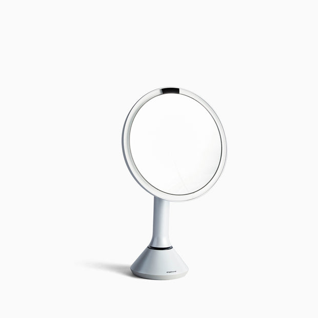 Simple Human Sensor Mirror in Stainless Steel