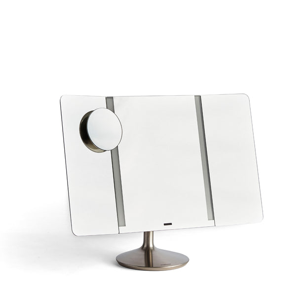 Simple Human Wide View Vanity Mirror Unfolded