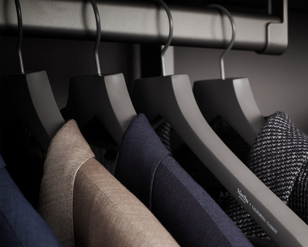 Example of Everyday Suit Hangers with suits | California Closets
