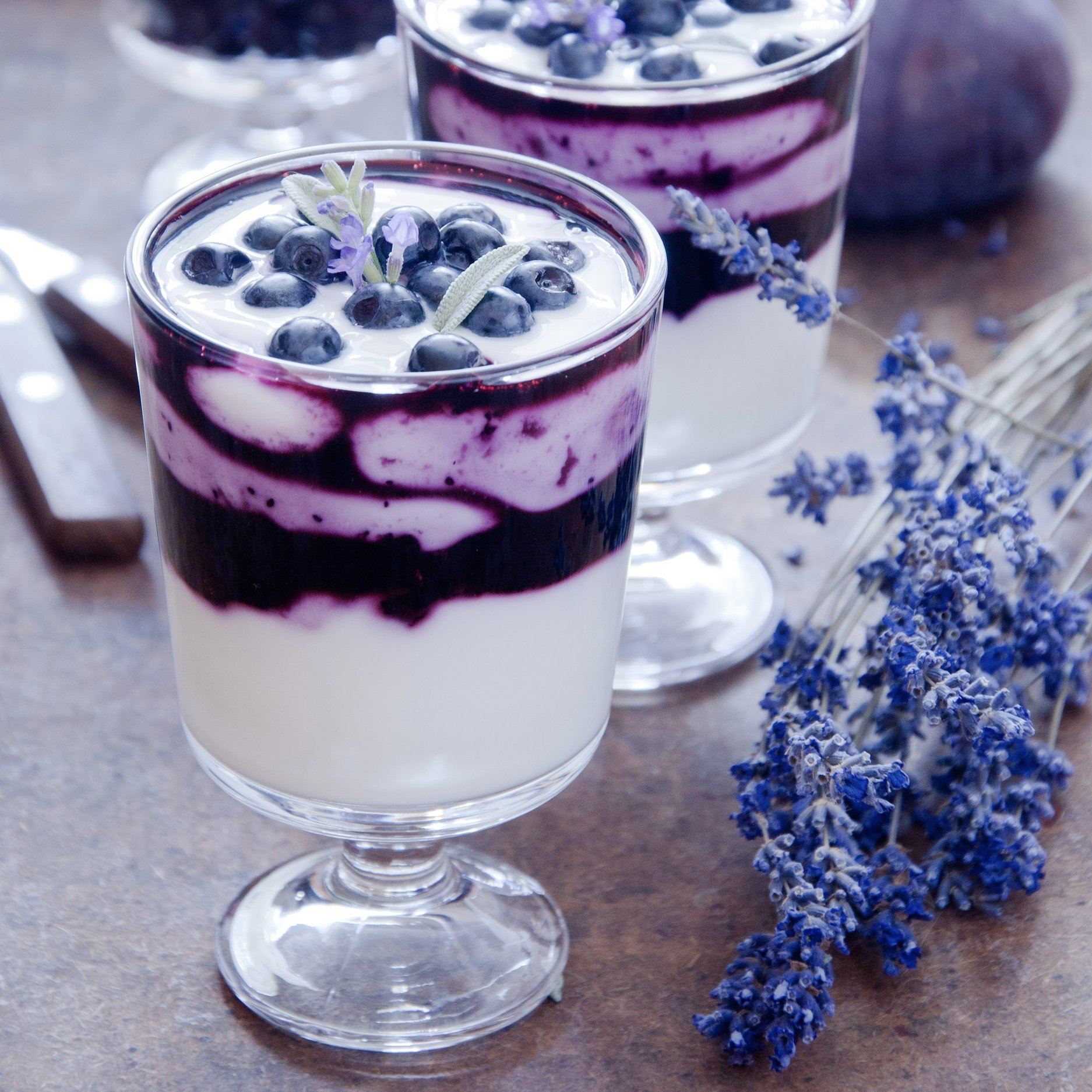 Blueberry Lavender Parfait