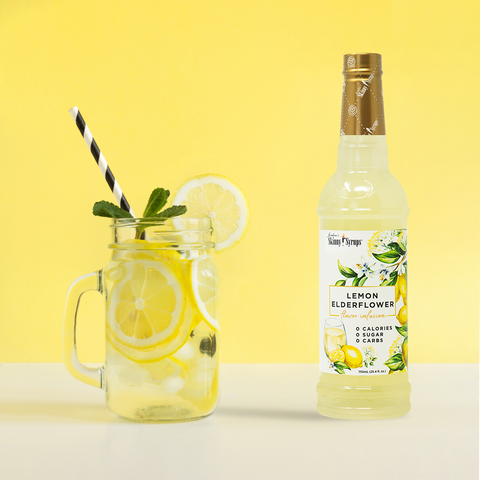lemon elder flower zero sugar craft mocktail