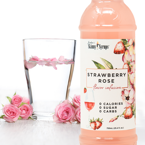 sugar free strawberry rose syrup flavor infusion