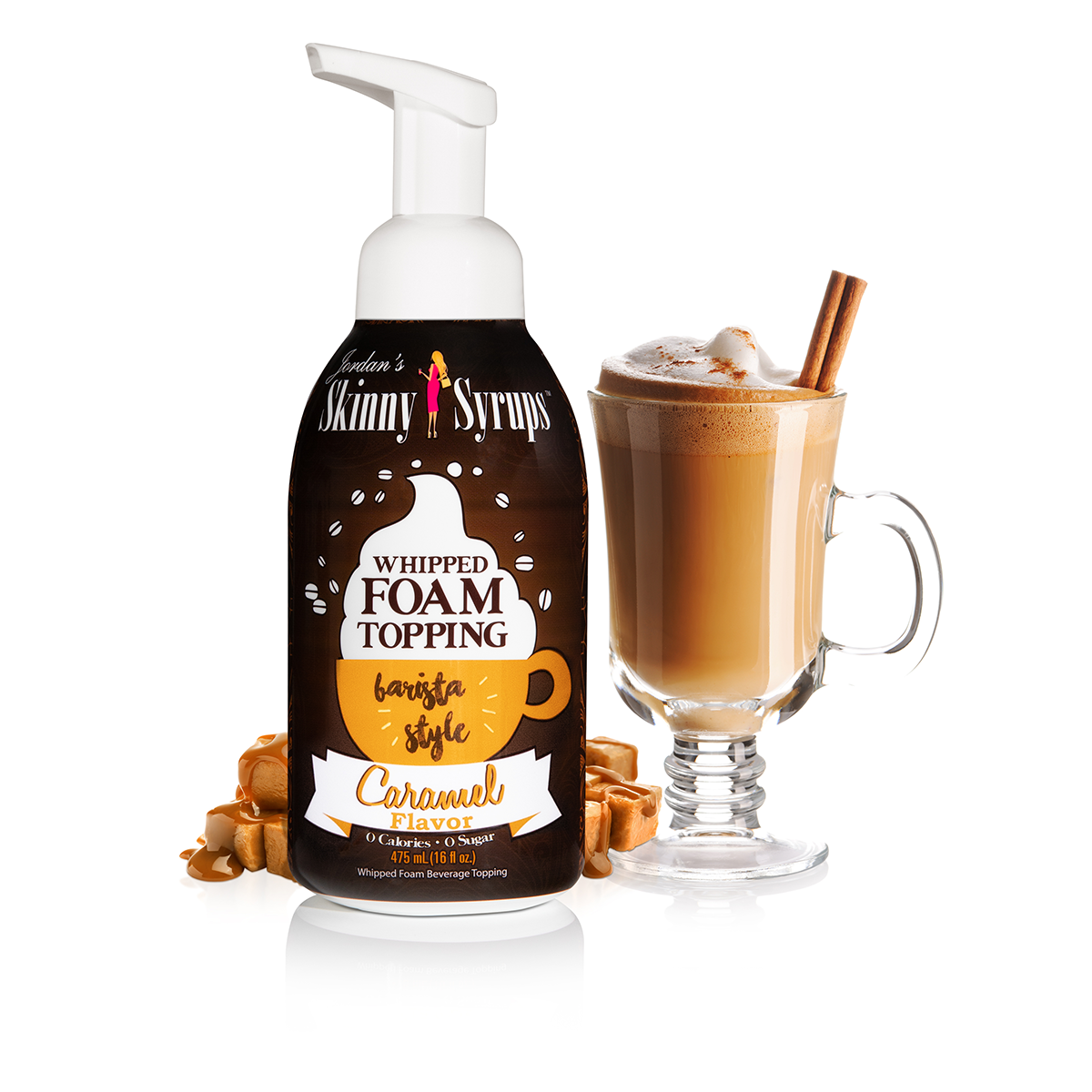 Sugar Free Caramel Whipped Foam Topping - Skinny Mixes