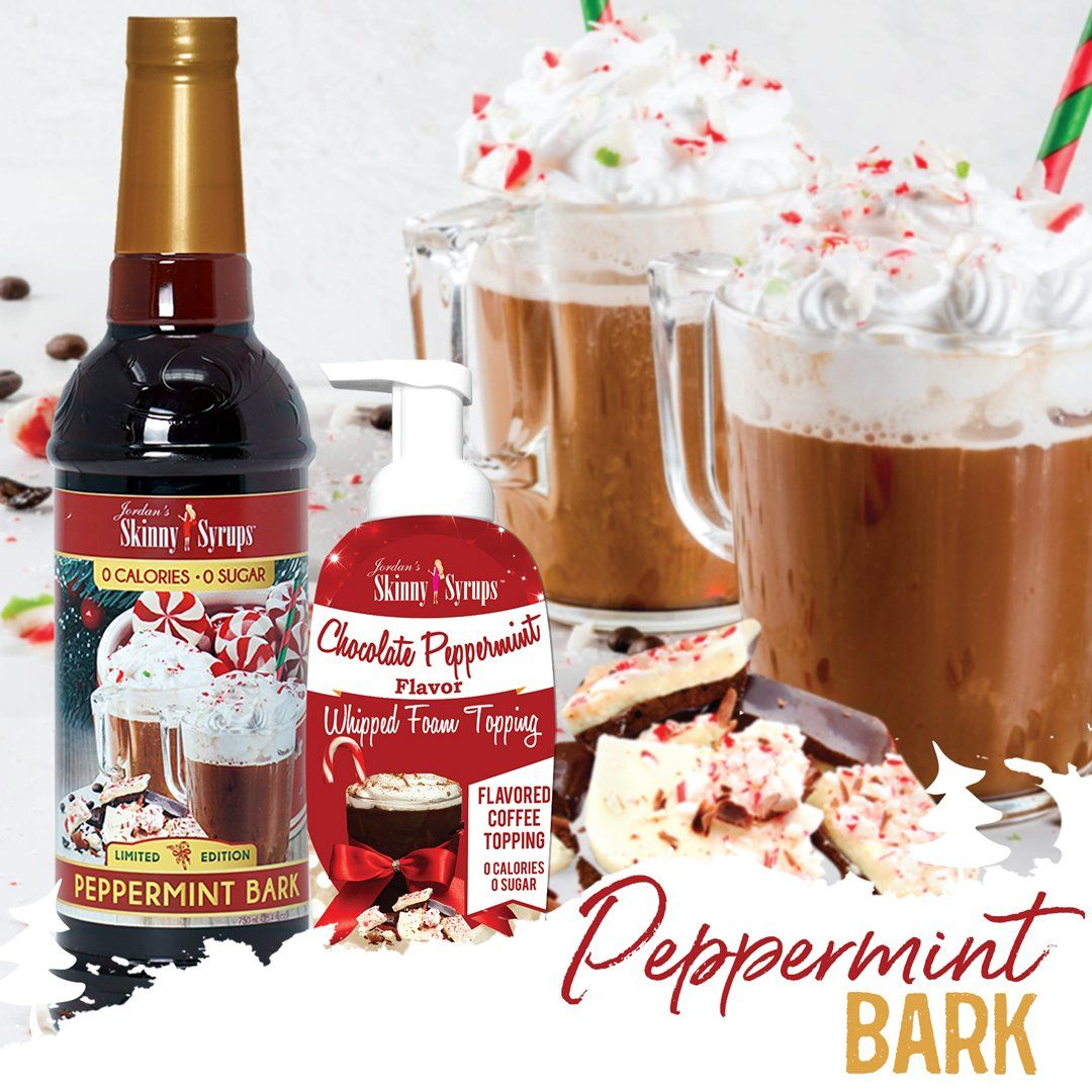 Sugar Free Chocolate Peppermint Whipped Foam Topping - Skinny Mixes