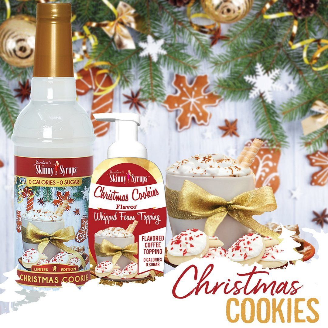 Sugar Free Christmas Cookies Whipped Foam Topping