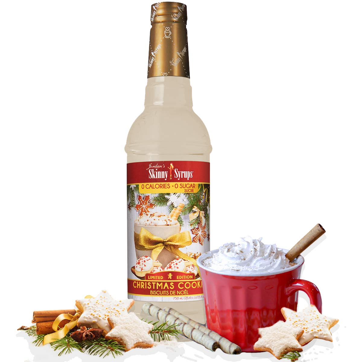 Sugar Free Christmas Cookie Syrup - Skinny Mixes