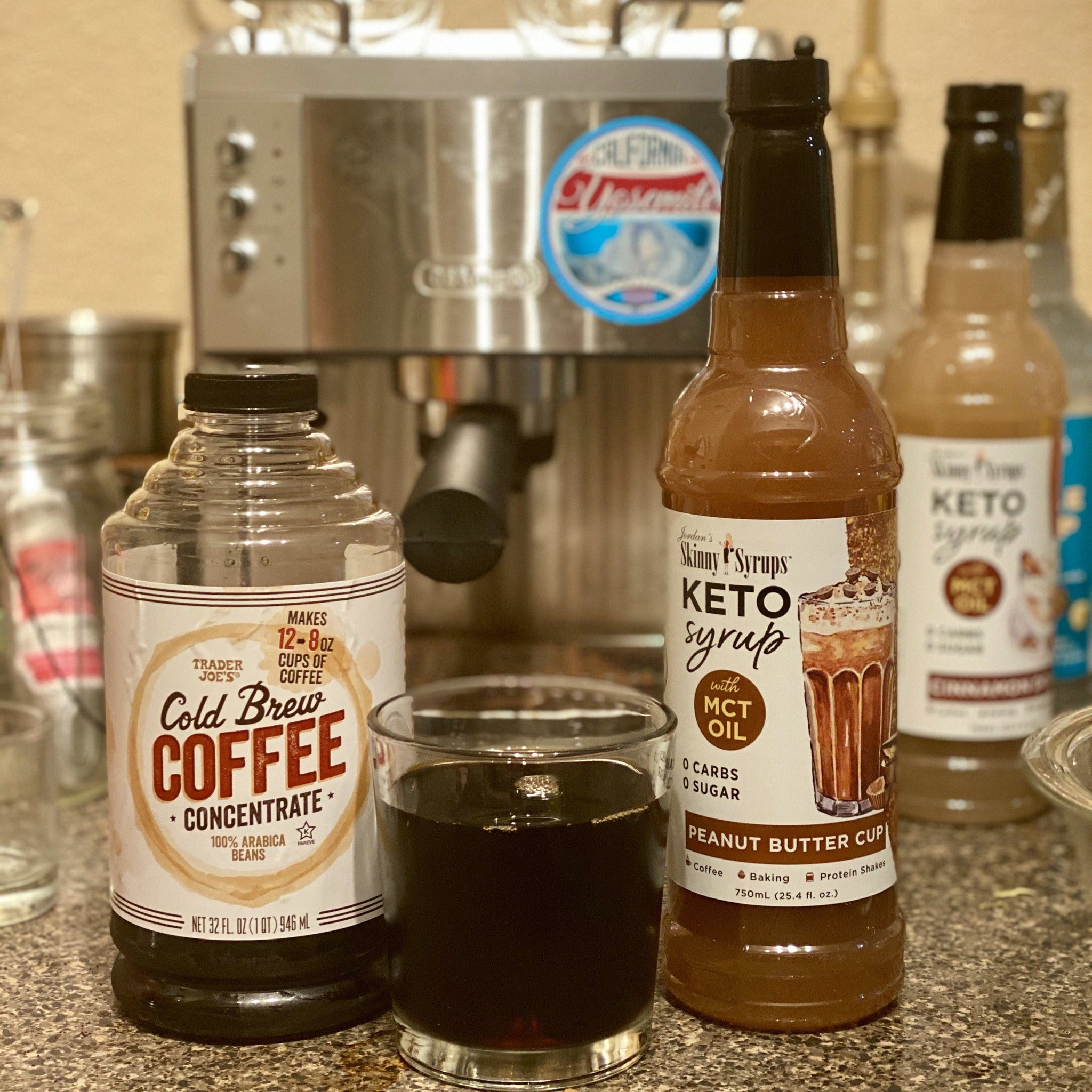 Keto Peanut Butter Cup Syrup with MCT - Skinny Mixes