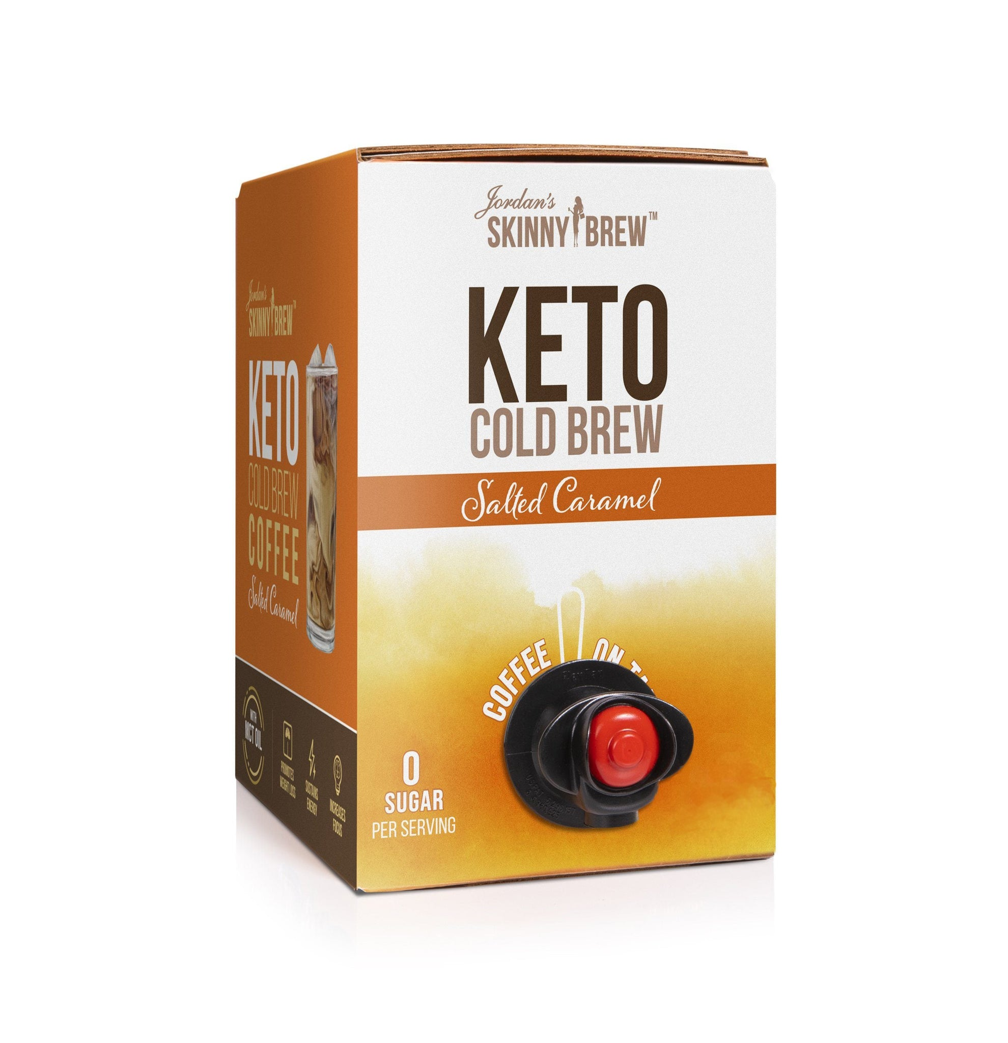 Keto Cold Brew Coffee On Tap - Salted Caramel with MCT - Skinny Mixes