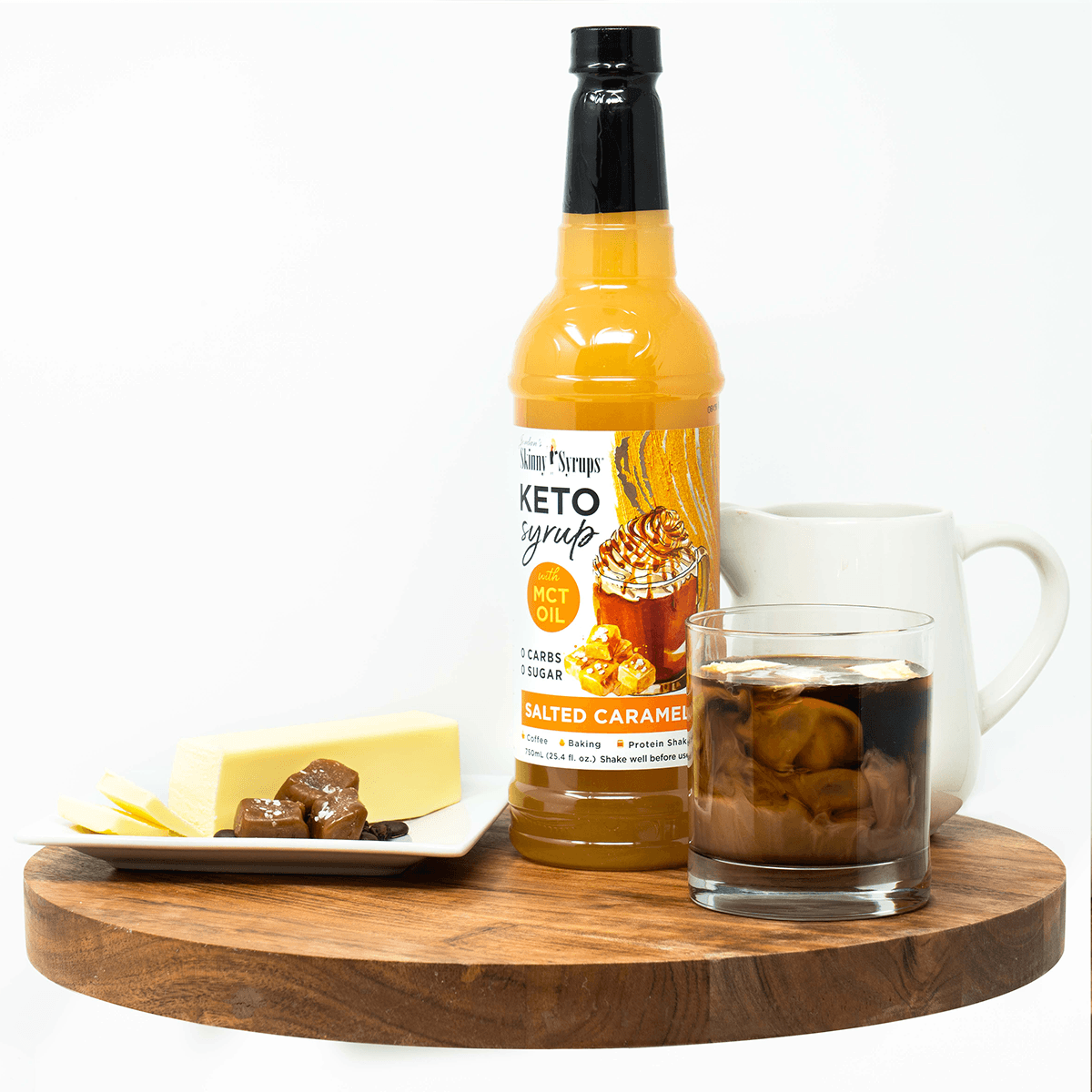 Keto Salted Caramel Syrup with MCT - Skinny Mixes