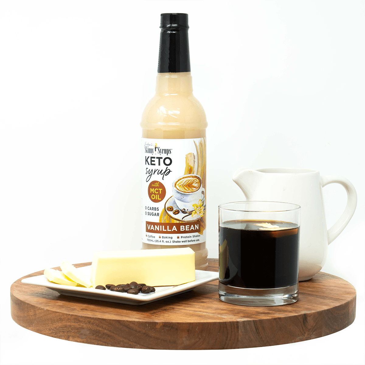 Keto Vanilla Bean Syrup with MCT - Skinny Mixes
