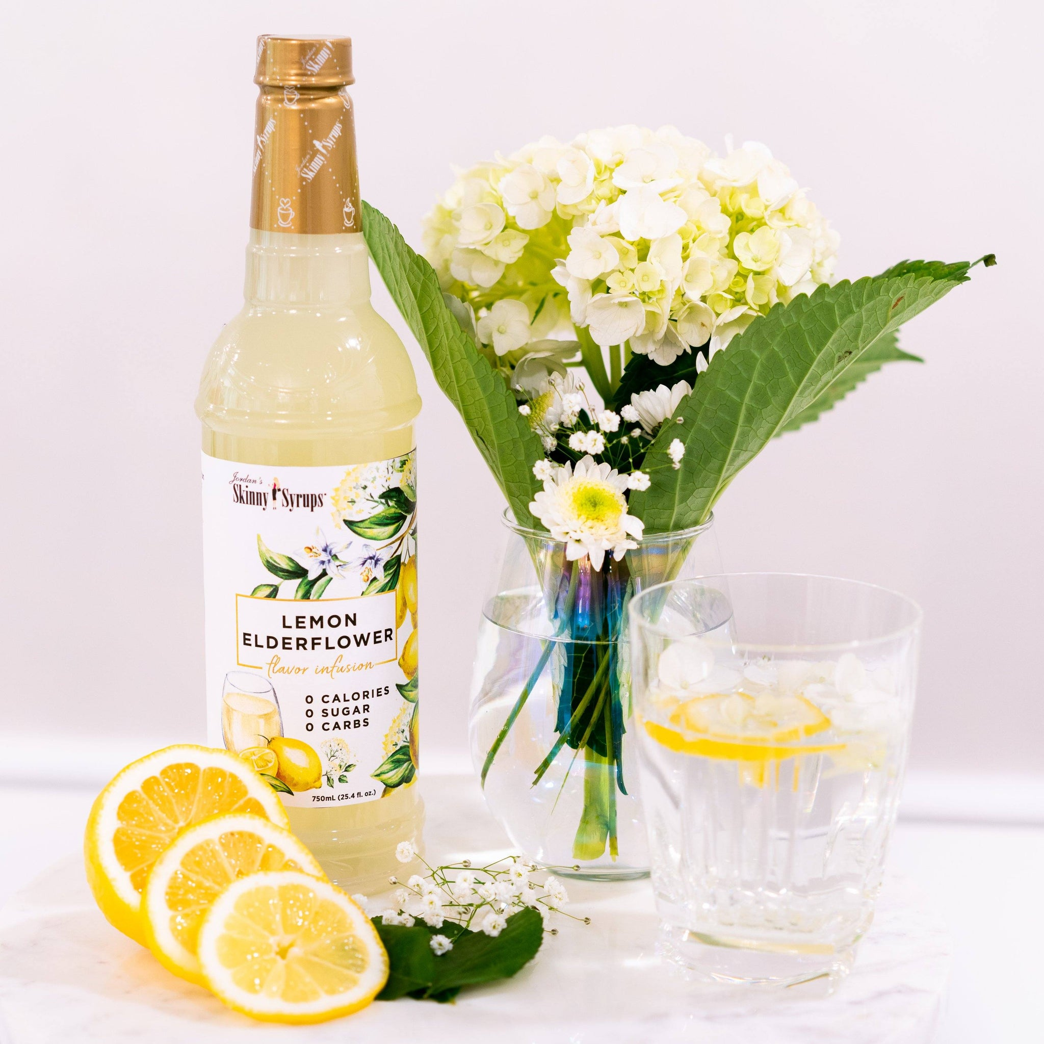 Sugar Free Lemon Elderflower Syrup - Skinny Mixes