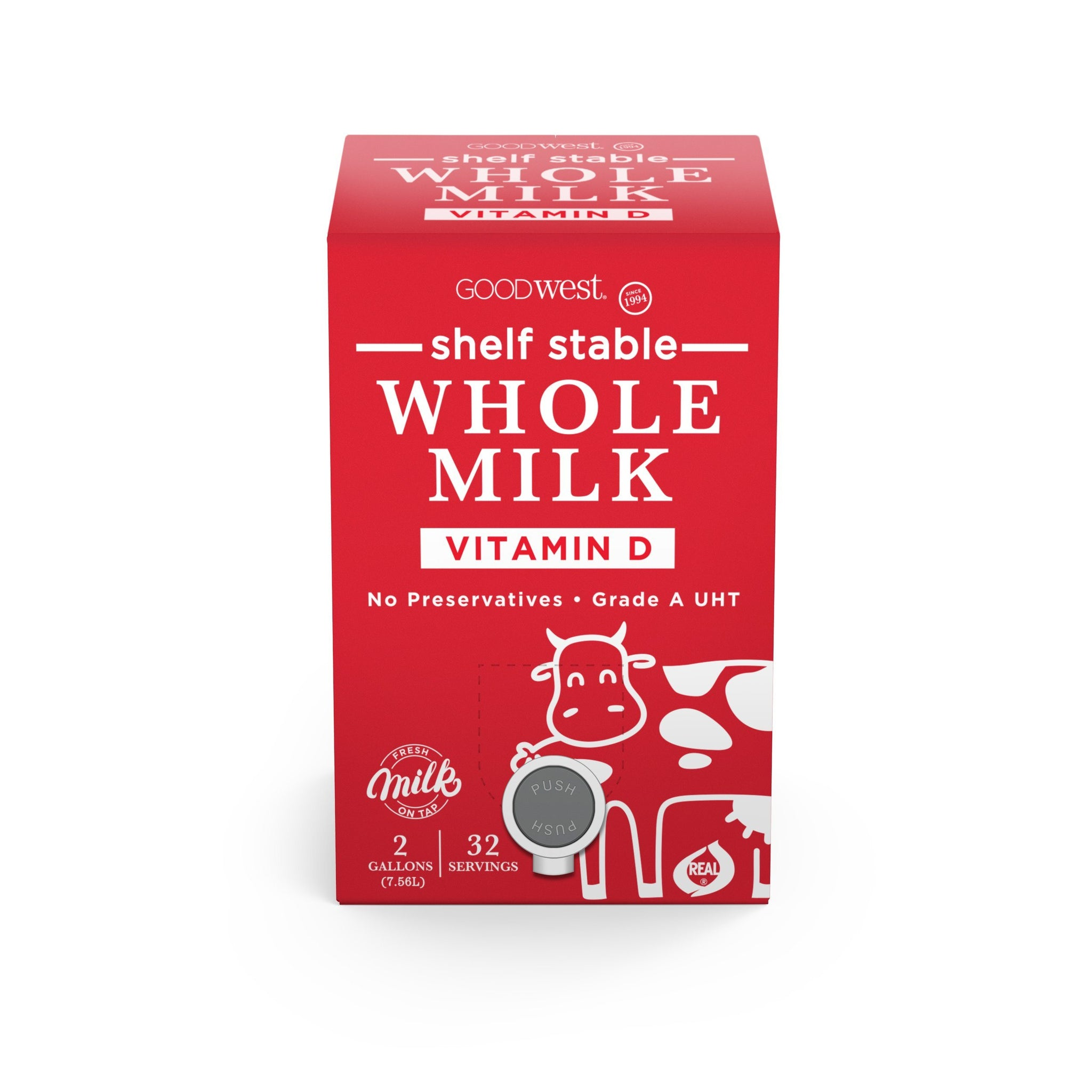 2 Gallon Whole Milk - Shelf Stable Skinny Syrups