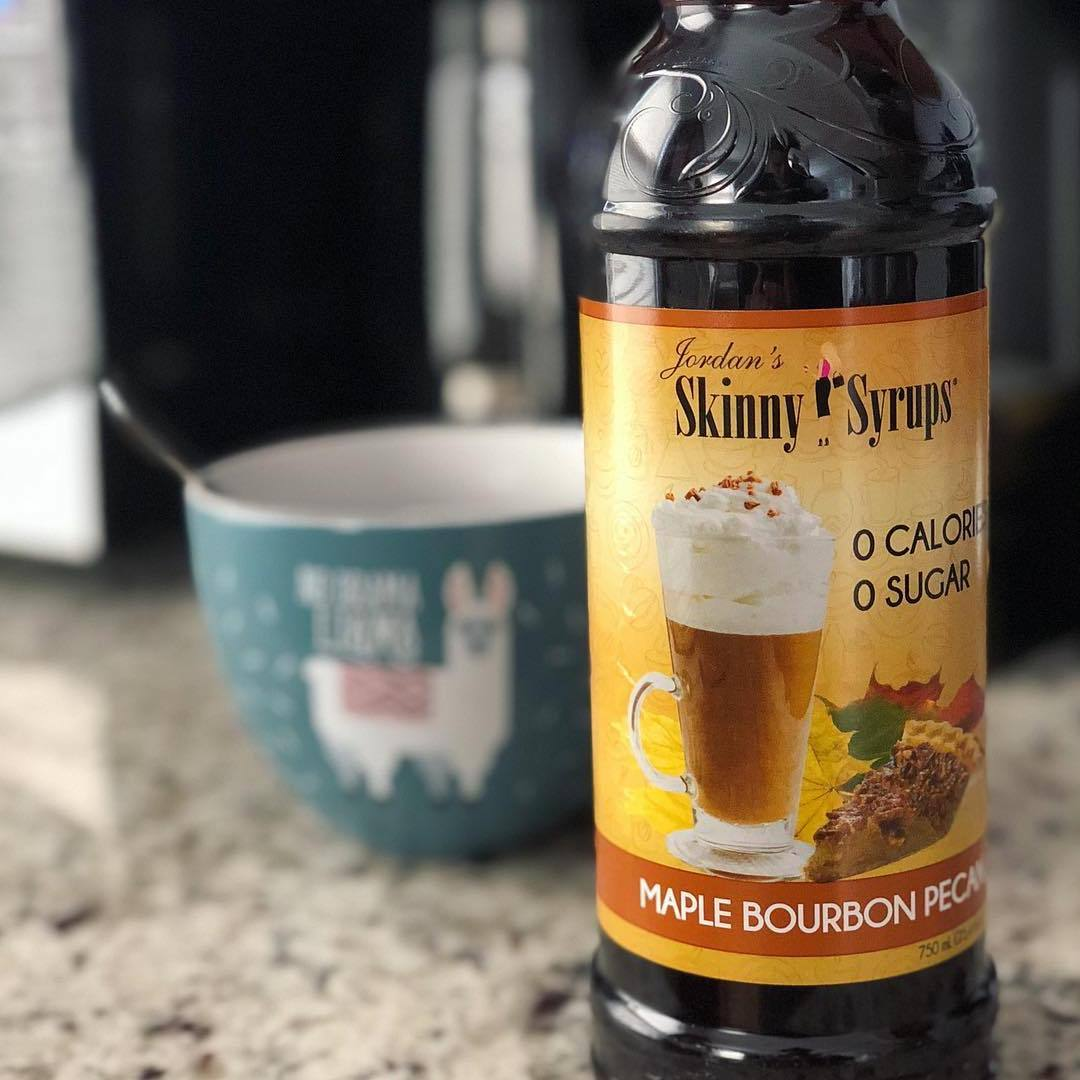 Sugar Free Maple Bourbon Pecan Syrup - Skinny Mixes