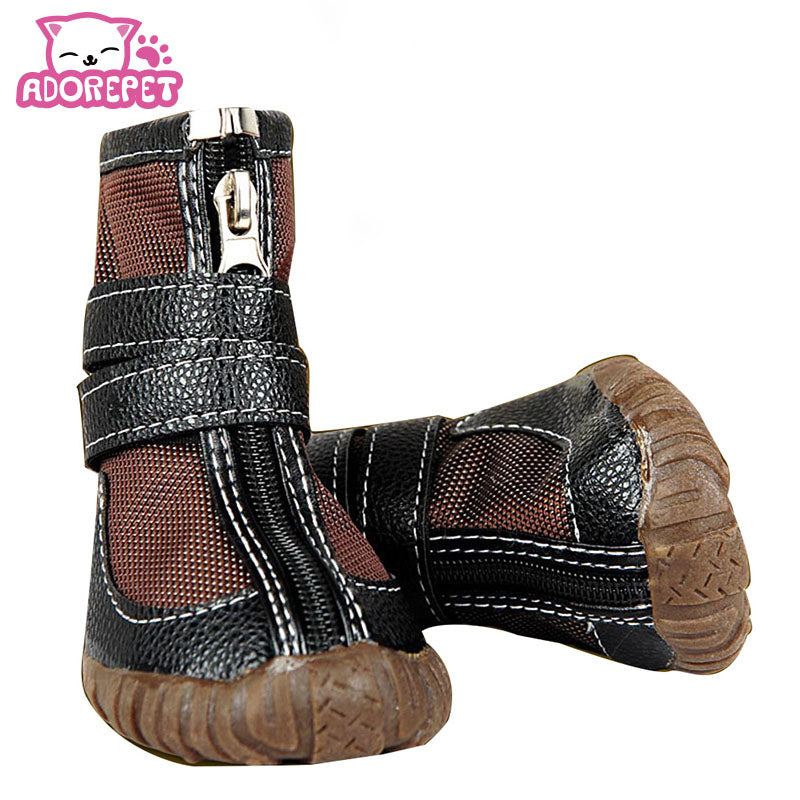 Large Big Dog PU leather sport Shoes Winter Waterproof Puppy Martin boots Non-Slip Rain Shoes