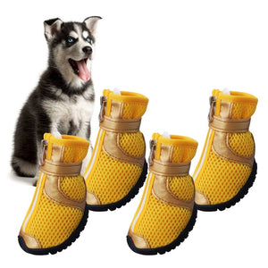Dog Shoes Medium Large Dog Summer Anti Slip Breathable Mesh Tied Zipper 2 Colors Shoes For Dogs