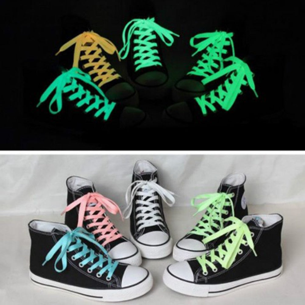 Fashion 1 Pair Luminous Shoelace Men Women Shoe Laces Glowing Led Fluorescent Shoeslace for Sneakers Canvas Shoes Strings