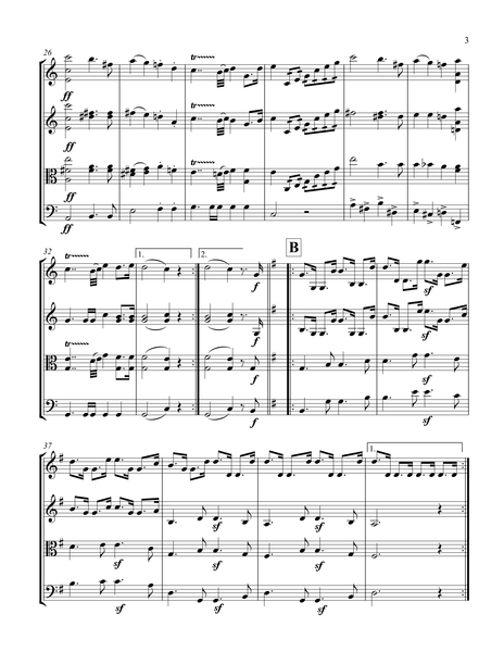 Felix Mendelssohn Bartholdy: Wedding March from A Midsummer Night's Dream – Arrangement for String Quartet by Peter Breiner (PB104)