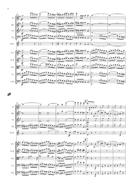 Mendelssohn, Felix: Violin Concerto in E minor, Op. 64 (arr. for String Quintet & Wind Quintet) (AEGC7)