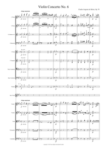 Charles Auguste de Bériot: Violin Concerto No. 6 in A Major, Op. 70 – full score (NXP002)