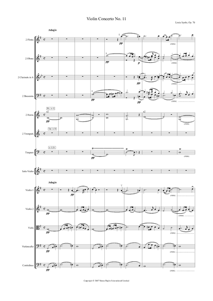 Louis Spohr: Violin Concerto No. 11 in G Major, Op. 70 – full score (NXP010)