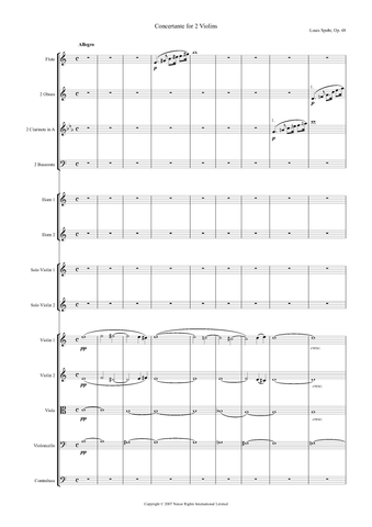 Louis Spohr: Concertante No. 1 in A Major, Op. 48 – full score (NXP011)
