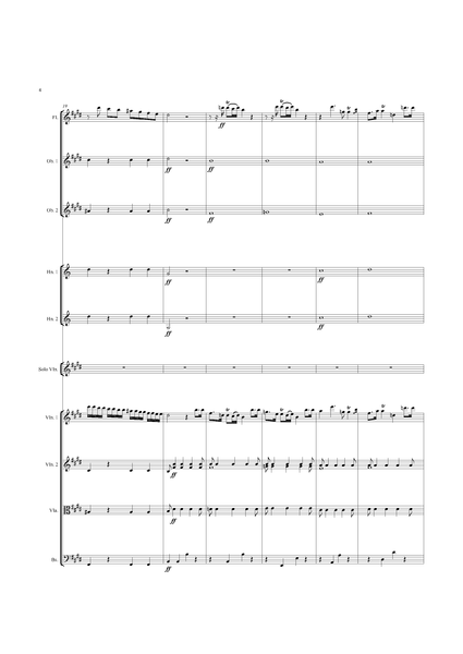 Rodolphe Kreutzer: Violin Concerto No. 14 in E Major – full score (NXP014)