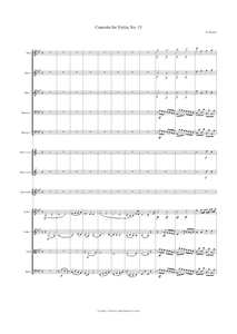 Rodolphe Kreutzer: Violin Concerto No. 15 in A Major – full score (NXP015)