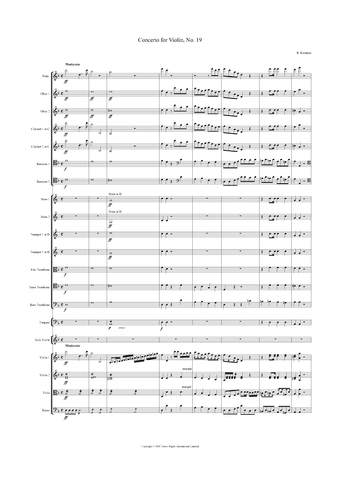 Rodolphe Kreutzer: Violin Concerto No. 19 in D Minor – full score (NXP017)