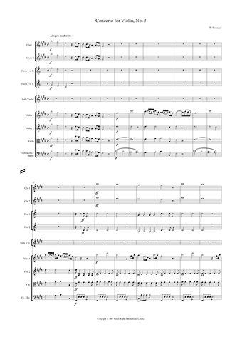 Rodolphe Kreutzer: Violin Concerto No. 3 in E major – full score (NXP020)