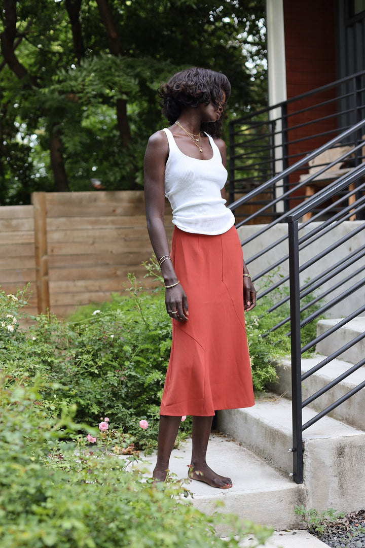 High Waisted Slip Skirt