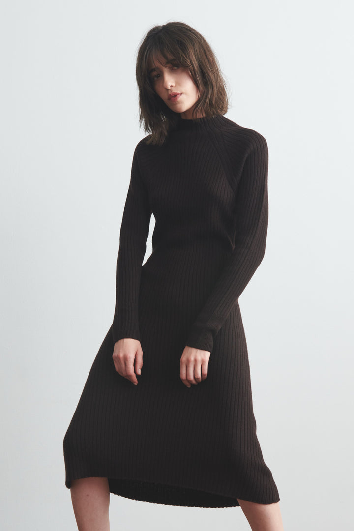 Mockneck Sweater Dress