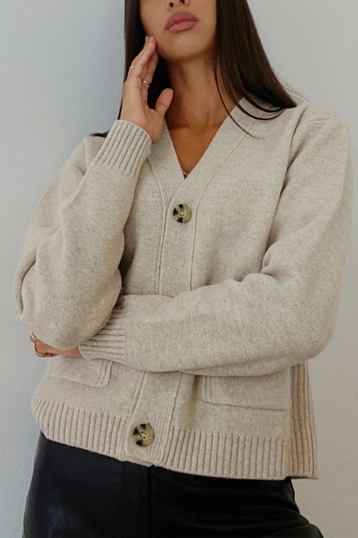 Cropped Wool Cardigan