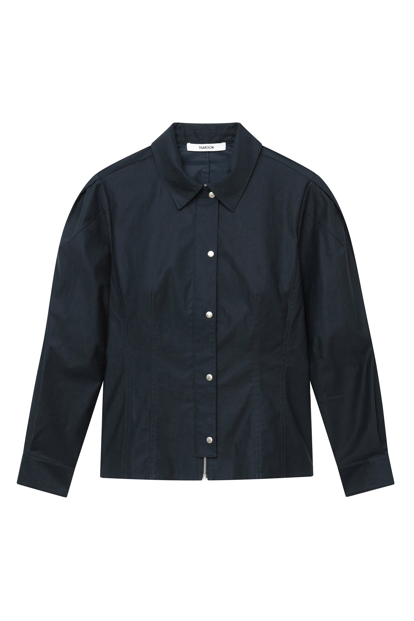 Fitted Puff Sleeve Shirt Jacket