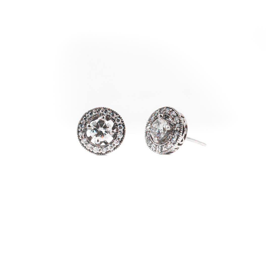 Diamond Studs with Halos